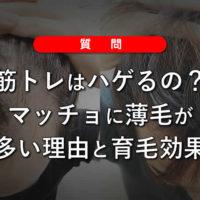 【質問】筋トレはハゲるの?マッチョに薄毛が多い理由と育毛効果