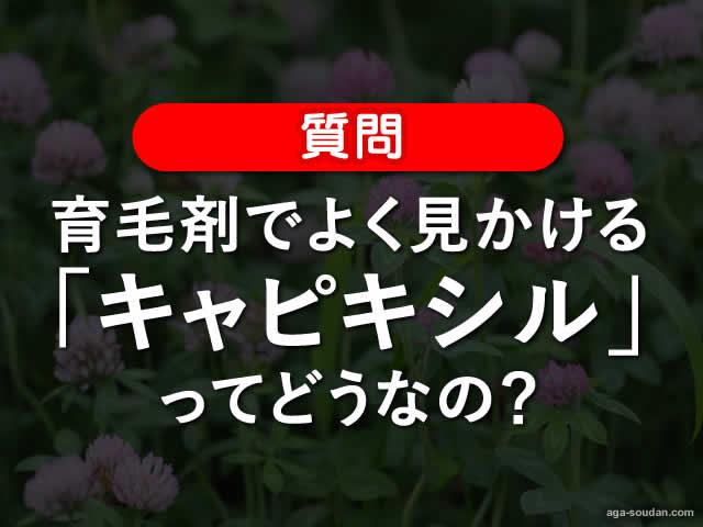 【質問】育毛剤でよく見かける「キャピキシル」ってどうなの?効果-00
